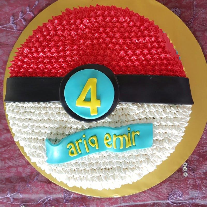 tema-kek-pokeball-untuk-birthday-ke-4-ariq-emir-6
