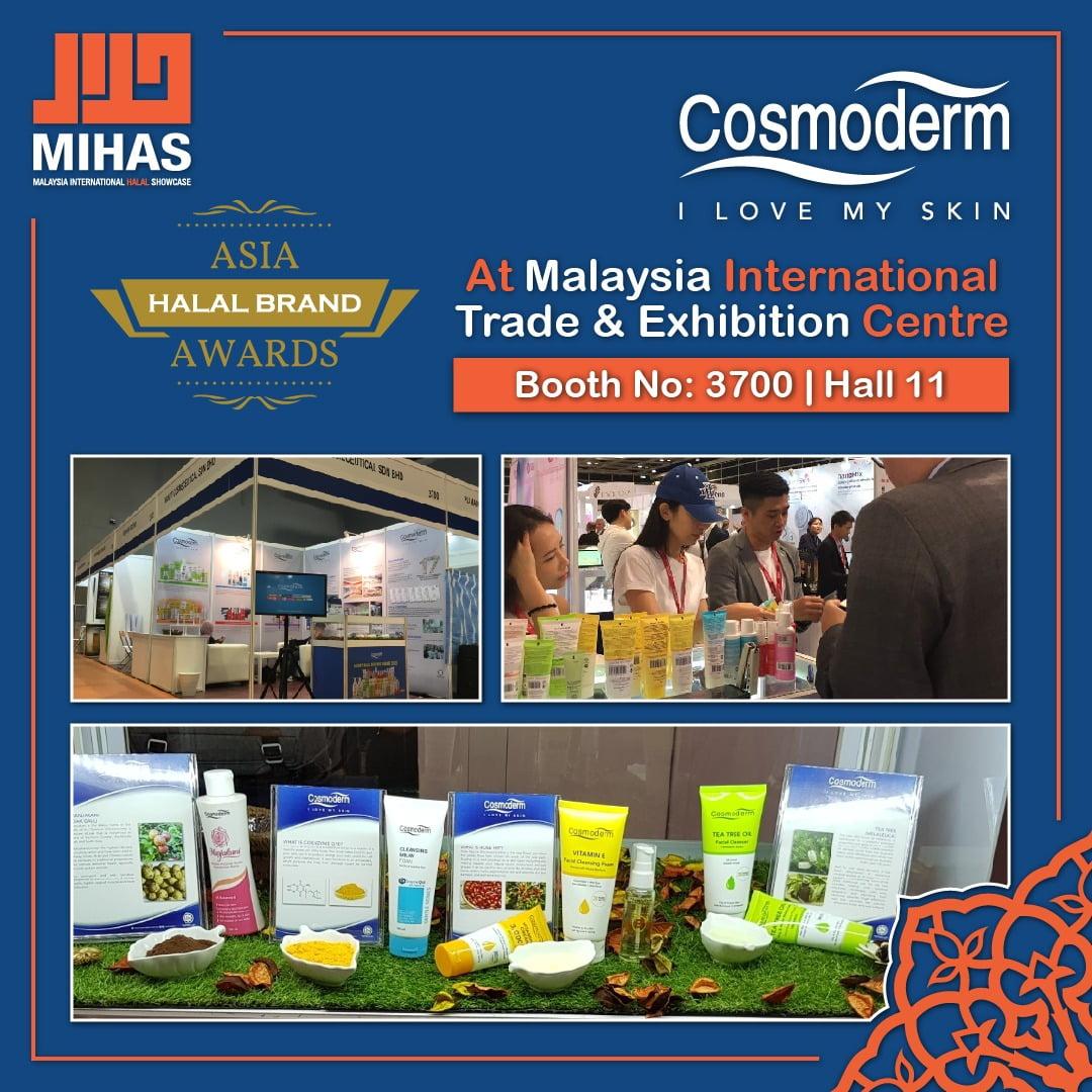 cosmoderm di pameran halal terbesar malaysia mihas