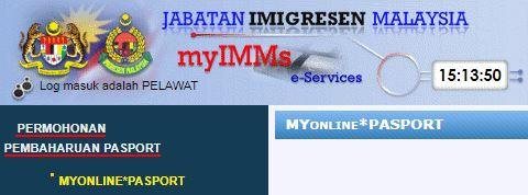 CARA RENEW PASSPORT SECARA ONLINE MELALUI MyIMMs - e-SERVICES (1)